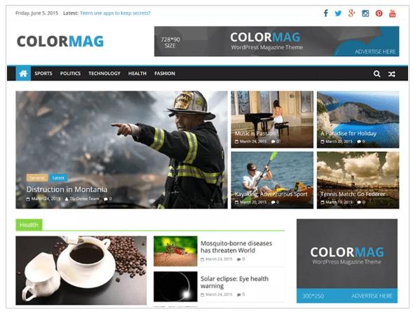 Wordpress Themes color mag