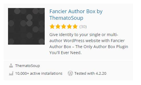 fancier author box WordPress Plugins