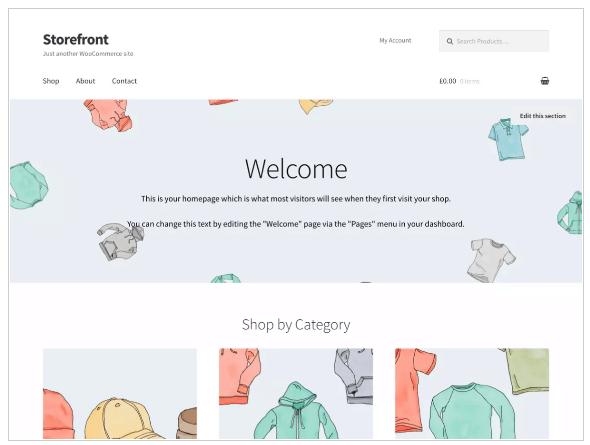 WordPress Themes storefront