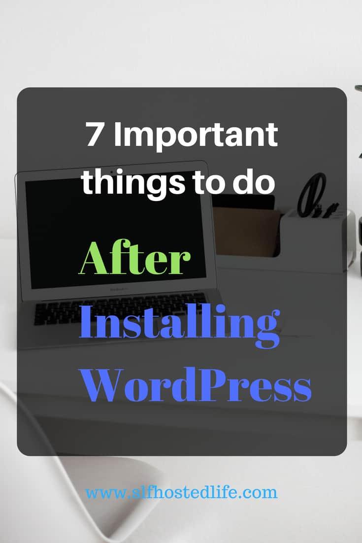 essential settings fter installing wordpress