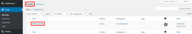 Dummy pages and posts install wordpress