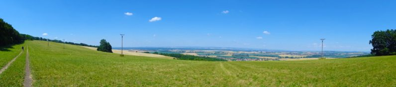 View of the landscape from the meadow below Šumárník