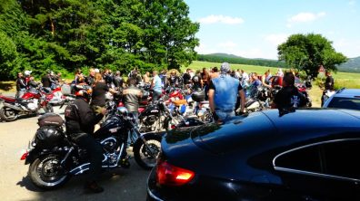 Biker meeting at the mill