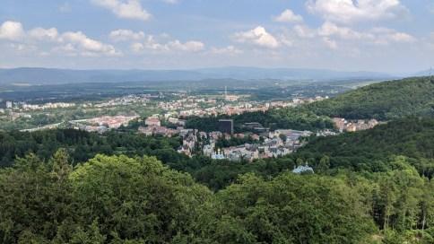 View of Karlovy Vary from Diana lookout tower