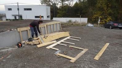 Příprava dřevěného bednění
