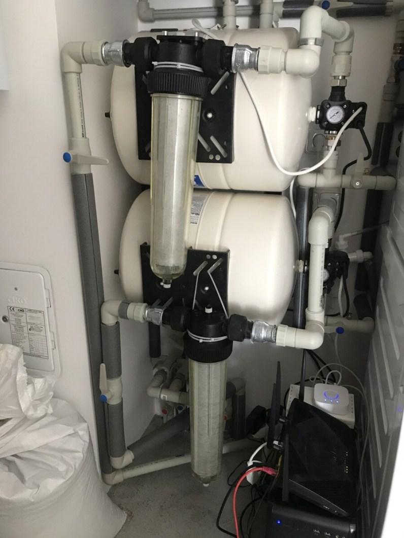 Nainstalované filtry na vodu