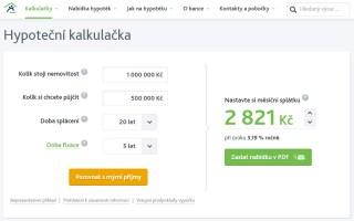 Hypoteční kalkulačka Hypoteční banky