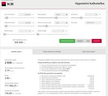 Hypoteční kalkulačka Komerční banky
