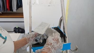 Rovnoměrné nanesení barvy na hladítko