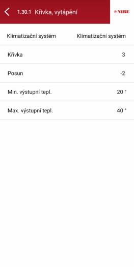 Mobilní aplikace NIBE myUplink