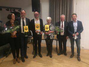 Mona Iversen, Jonny Bohlin, Rolf Selfors og Unni Solås Sammen med kommiteen Arild SOlås og John-Cato Berntzen.