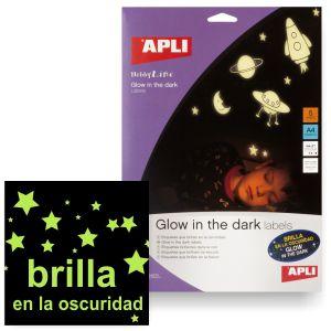 pegatinas imprimibles que brillan en la oscuridad