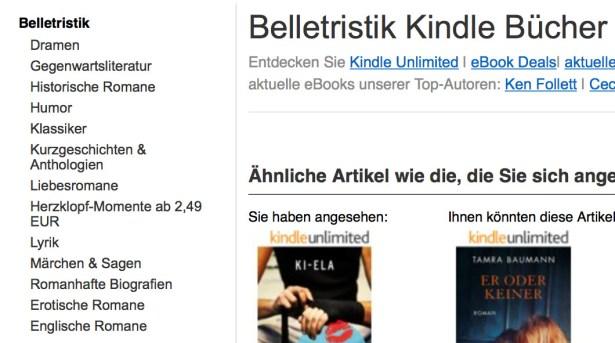 Amazon hat das Kategorie-System überarbeitet