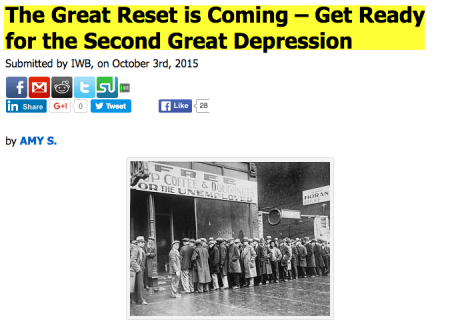 Many are predicting a 'Second Great Depression'