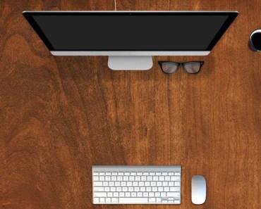 Empty Computer Desk