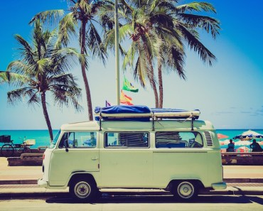 VW Camper Van Traveling