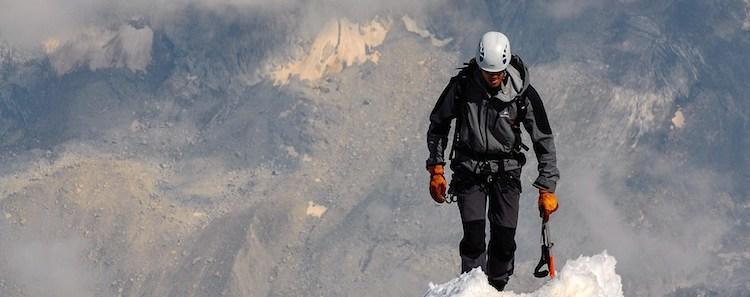 Mountain Climber Summit Snow