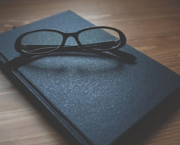 Black Glasses Book Desk