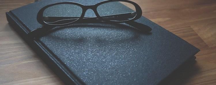 Black Glasses Book Desk