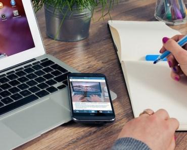 Office Entrepreneur Laptop Phone Notepad