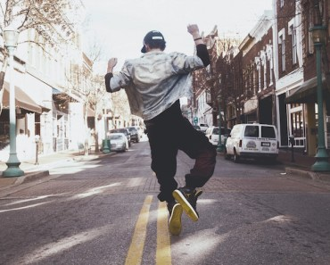 Man Jumping Street Jacket