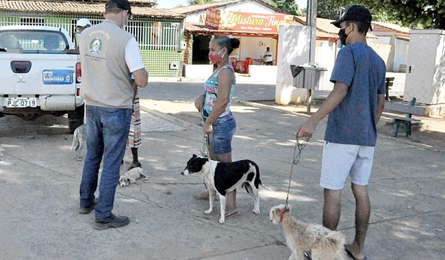 Agentes de Controle de Zoonoses realizam vacinação antirrábica, em comunidades rurais de Barreiras