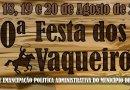 Confira a programação da 20ª Festa dos vaqueiros de Ibiquera – 2018