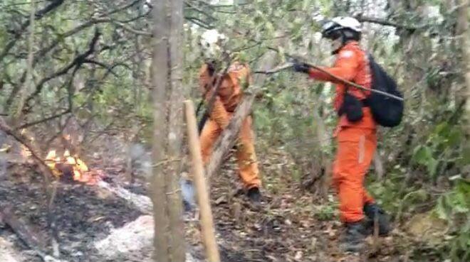 Força-tarefa do Governo do Estado e brigadistas controlam incêndio em Lençóis