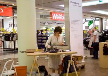 Eine Baustelle im Einkaufszentrum