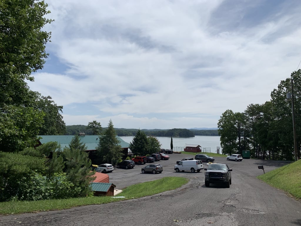 Carters Lake Marina & Resort parking lot