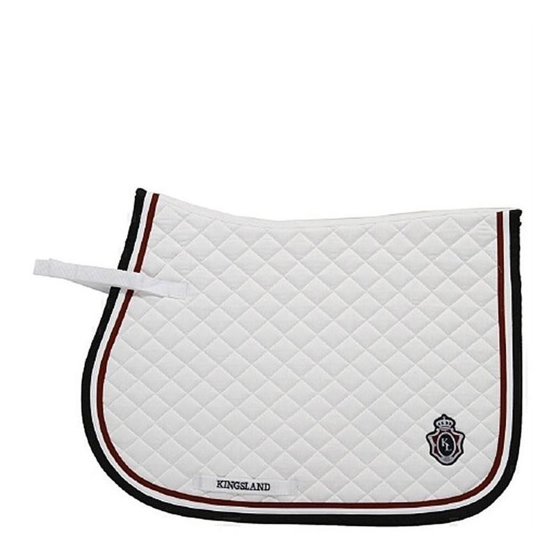 tapis de selle kingsland blanc sellerie dupagne sprl www sellerie dupagne com
