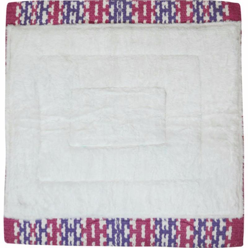 tapis western pad en laine et feutre randol s