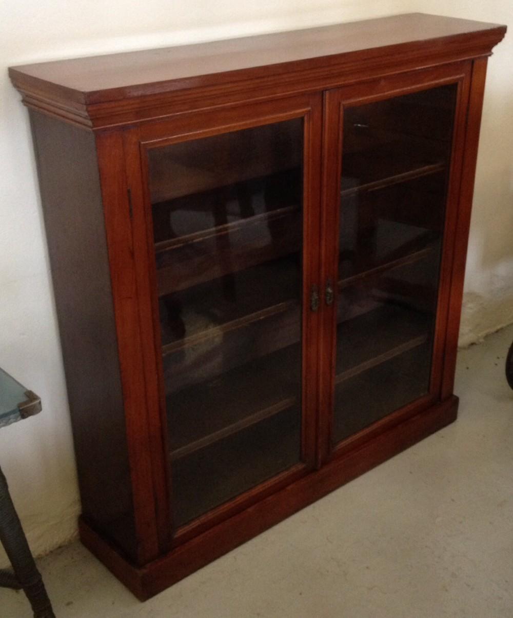 Late Victorian Glazed Mahogany Bookcase 297257