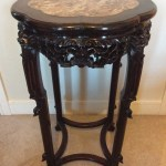 Tall Chinese Table Rosewood With Inset Rouge Marble C 1850 653232 Sellingantiques Co Uk