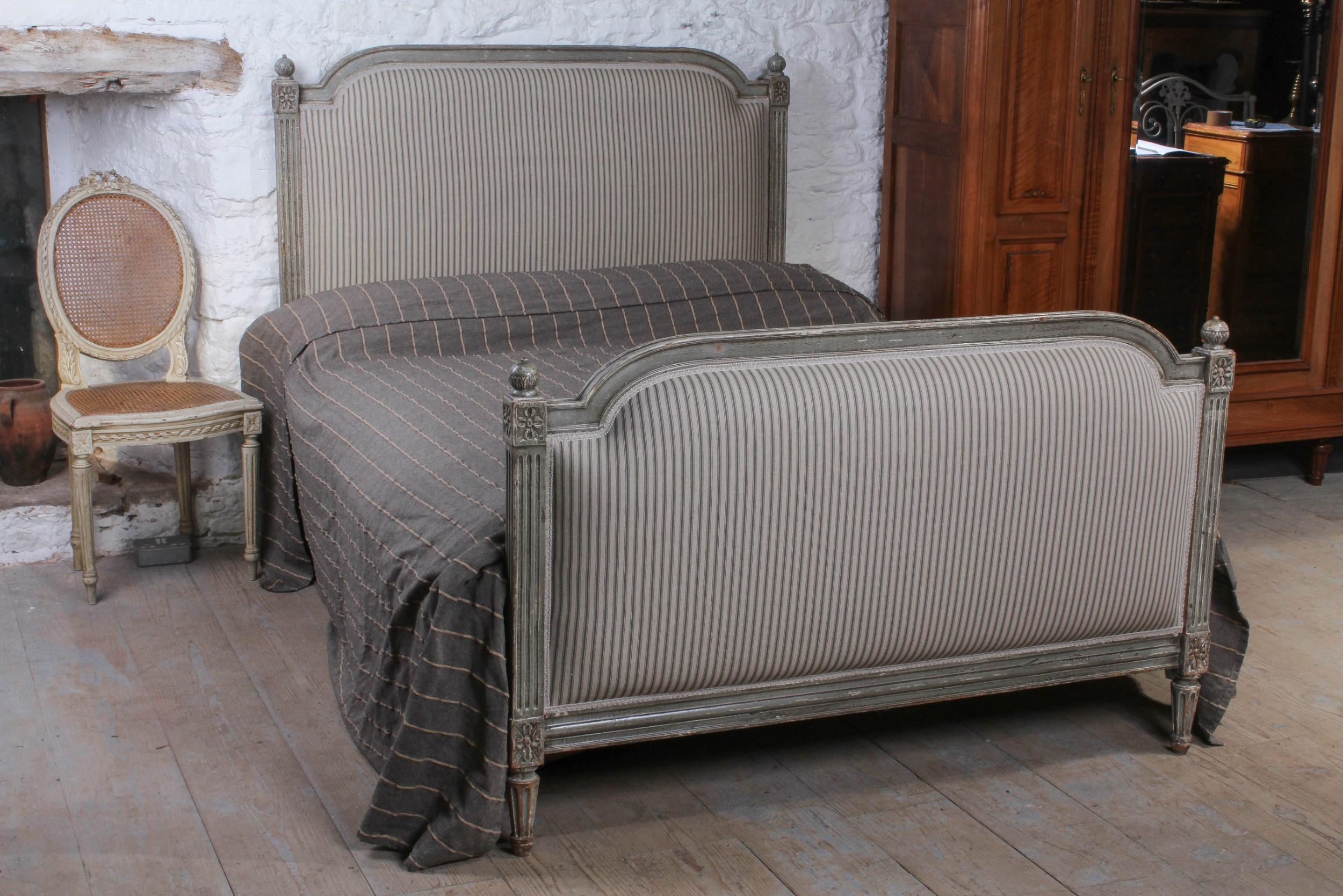 Gorgeous French Empire Style Upholstered Double Bed 603416 Sellingantiques Co Uk