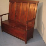 19th Century Tall Back Box Bench Seat 686319 Sellingantiques Co Uk