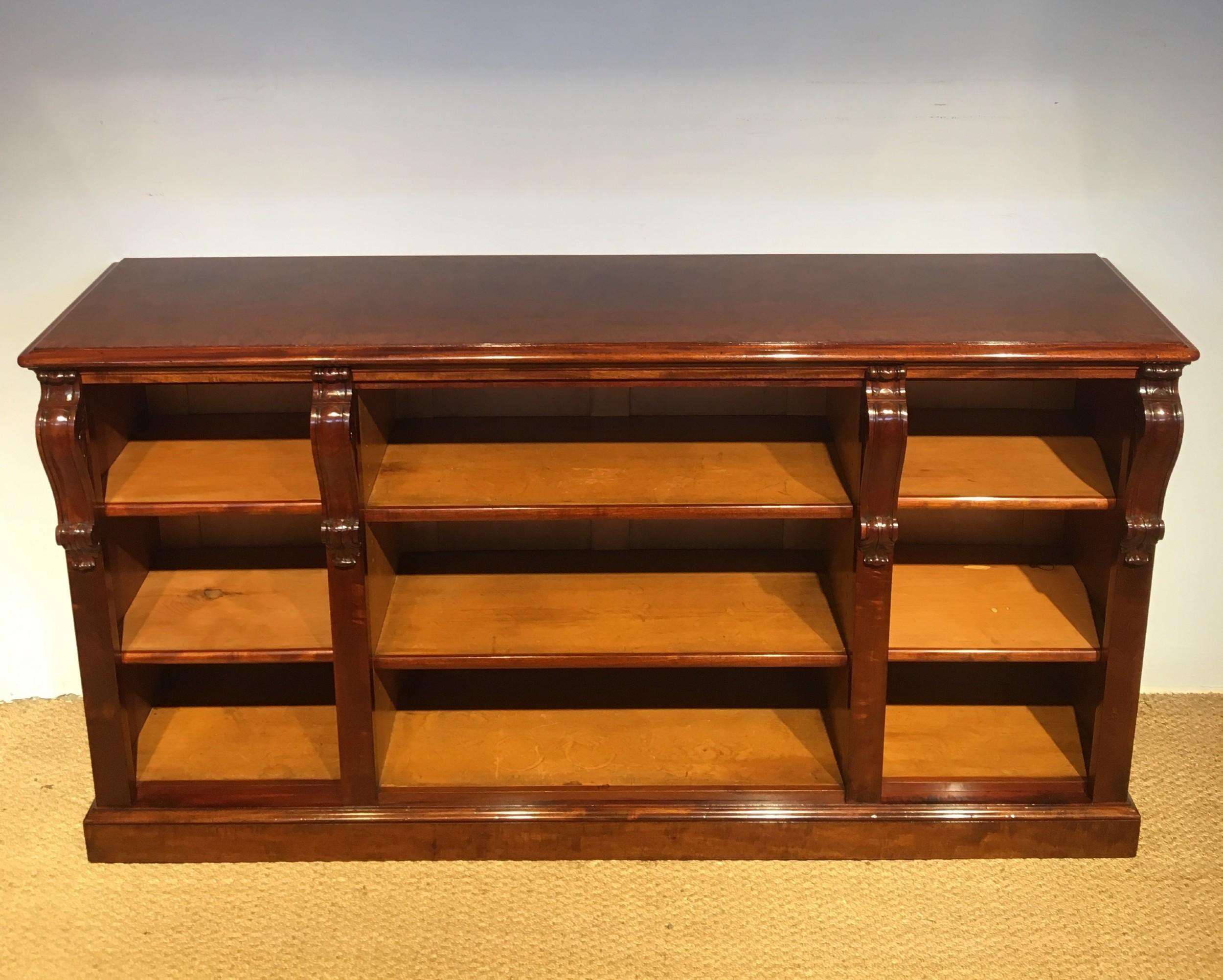 Long Low Mahogany Bookcase 522535 Sellingantiques Co Uk