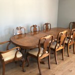 Walnut Queen Anne Style Dining Table And 8 Chairs 559059 Sellingantiques Co Uk