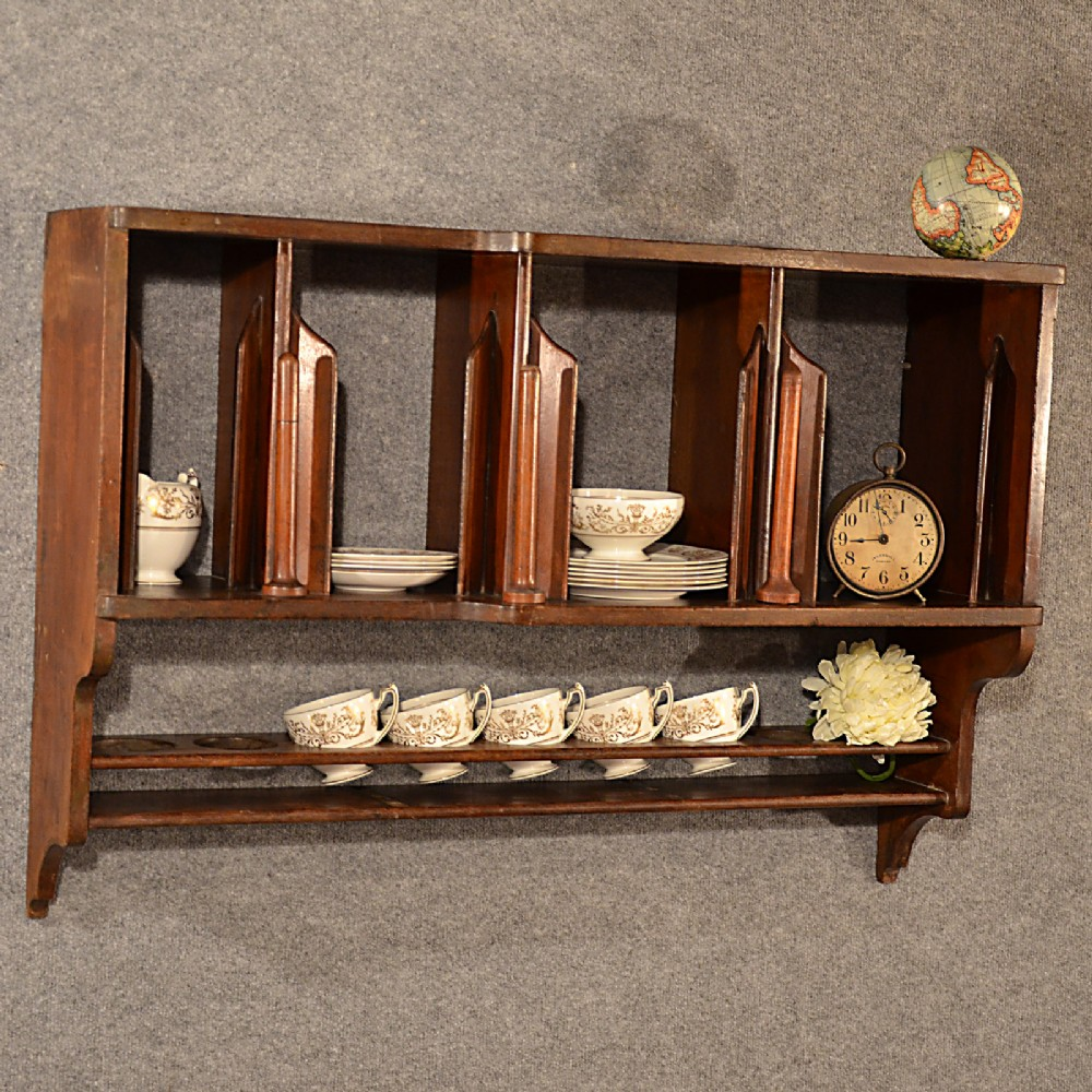 antique ships galley plate rack boat