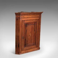 Antique Tall Corner Cupboard Display Cabinet Victorian