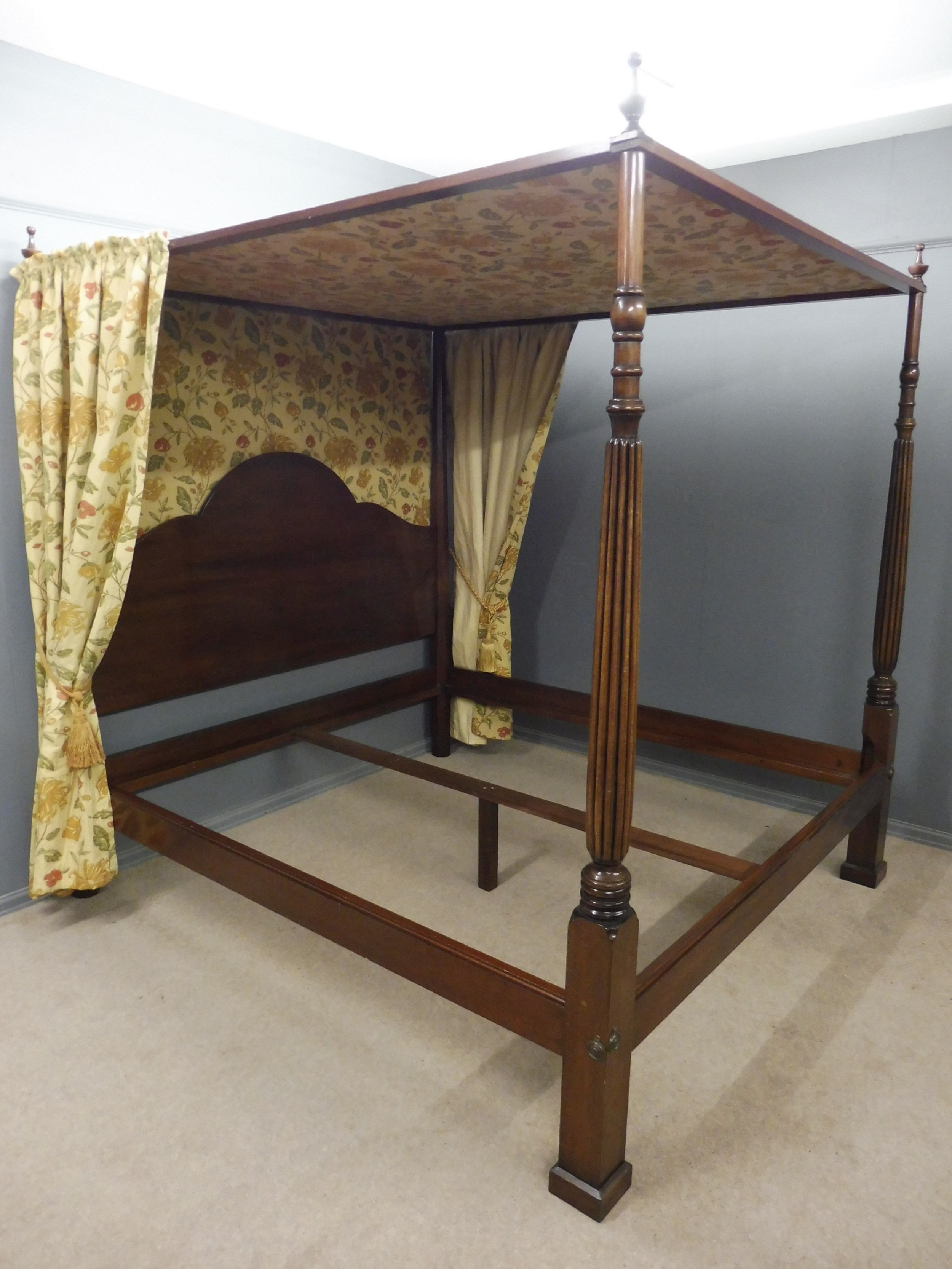 super king size four poster canopy bed