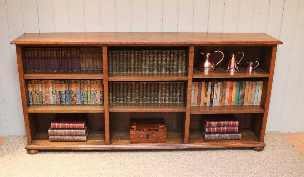 Wide Low And Bookcase