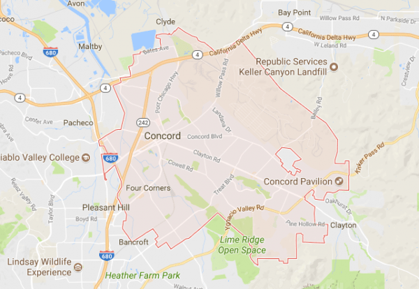 concord california map