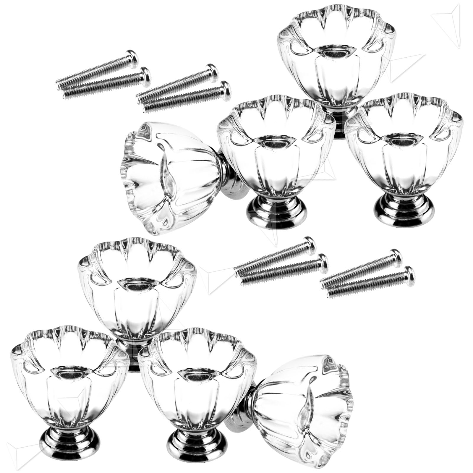 New 32mm Wine Cup Crystal Glass Kitchen Furniture Cabinet Handle Knobs