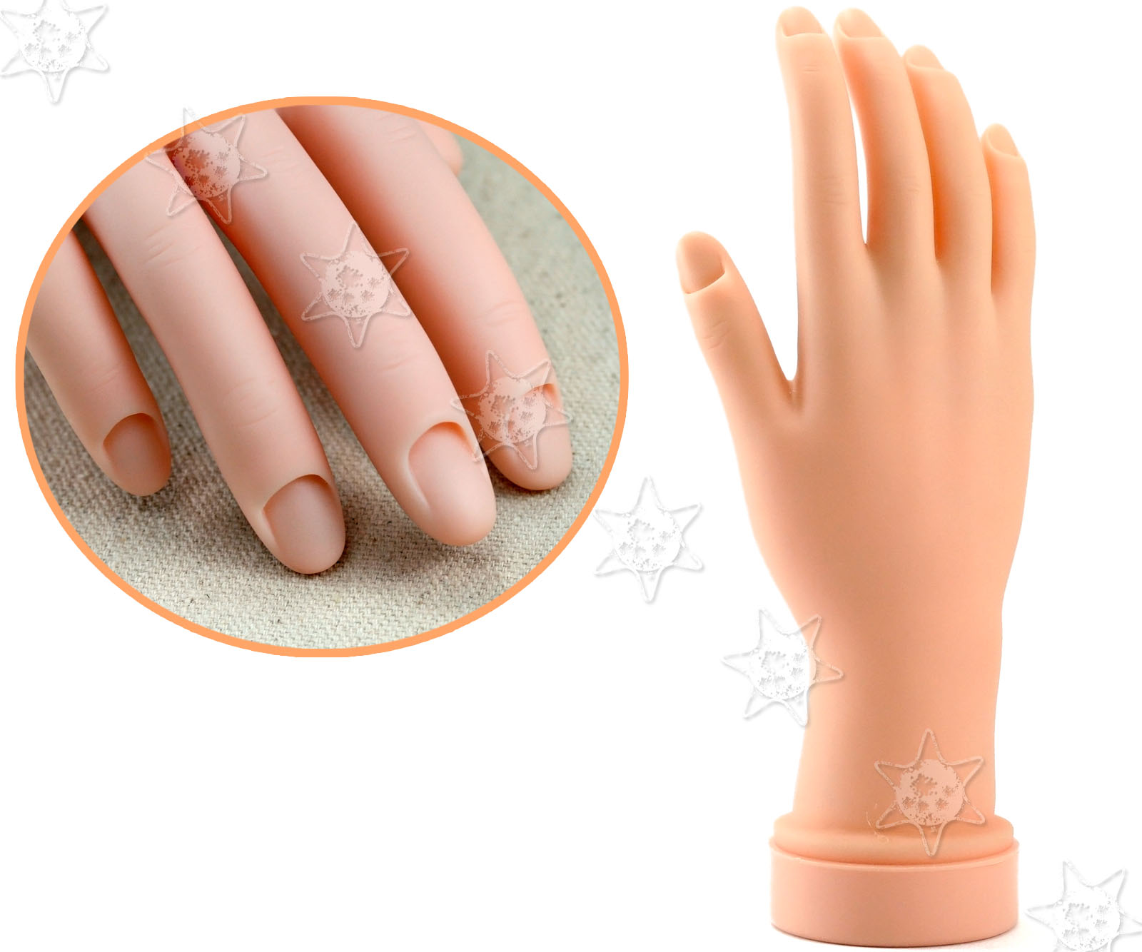 Nail Art Tips Movable Tips Soft Training Display Model