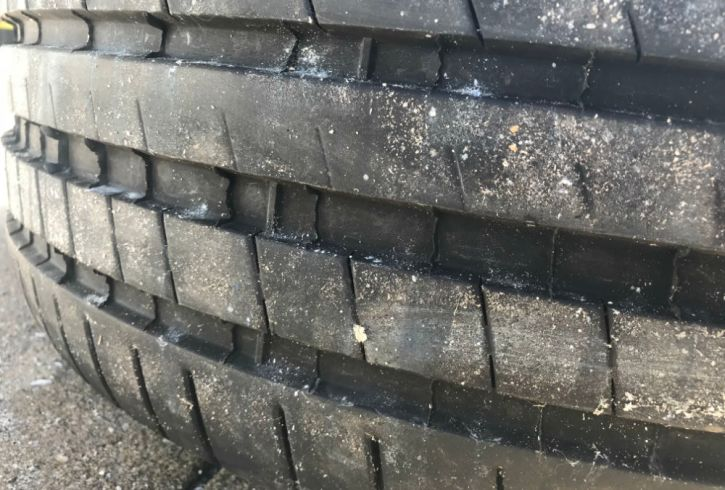 Gently used front tires.