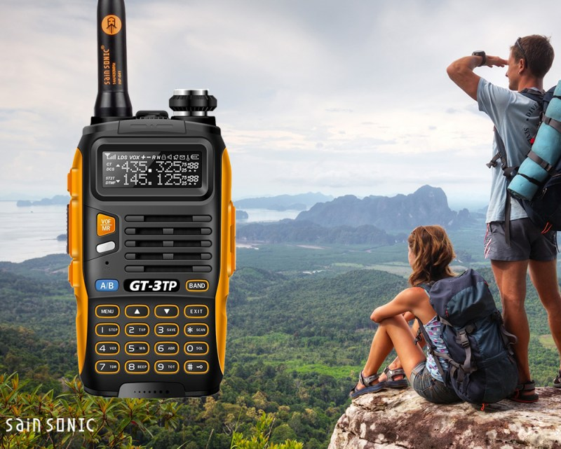 2x Baofeng GT-3TP 8W 136-174/400-520Mhz Ham Two-way Radio +2*Speaker & 1* Cable 1