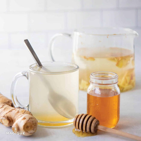 HOW TO BREW FRESH GINGER TEA