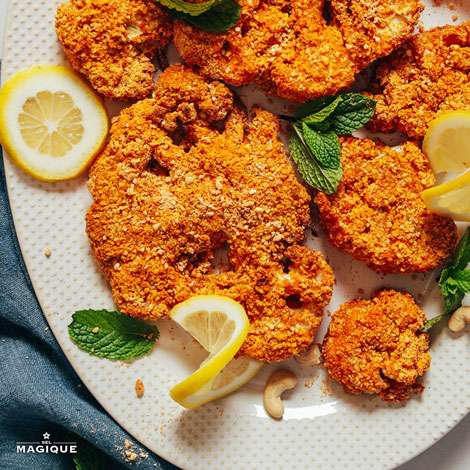 CASHEW-CRUSTED CAULIFLOWER