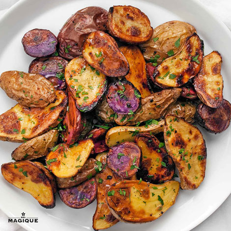 TRUFFLED POFINGERLING POTATOES